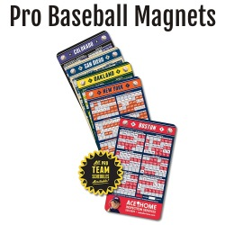Pro Baseball Team Schedule Magnets