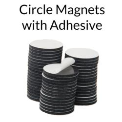Circle Magnets with Adhesive