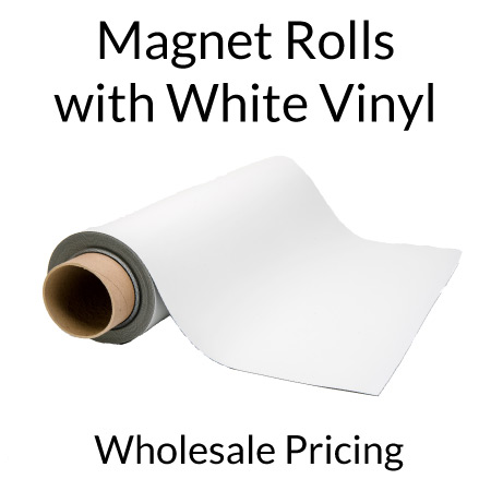 Magnet Rolls with White Vinyl Bulk Pricing