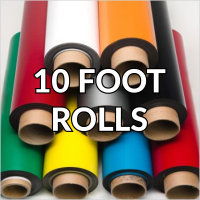Colored Vinyl Magnet Rolls 10'