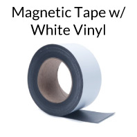 Magnetic Tape with White Vinyl