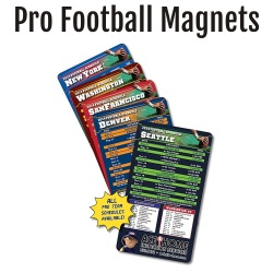 Pro Football Team Schedule Magnets