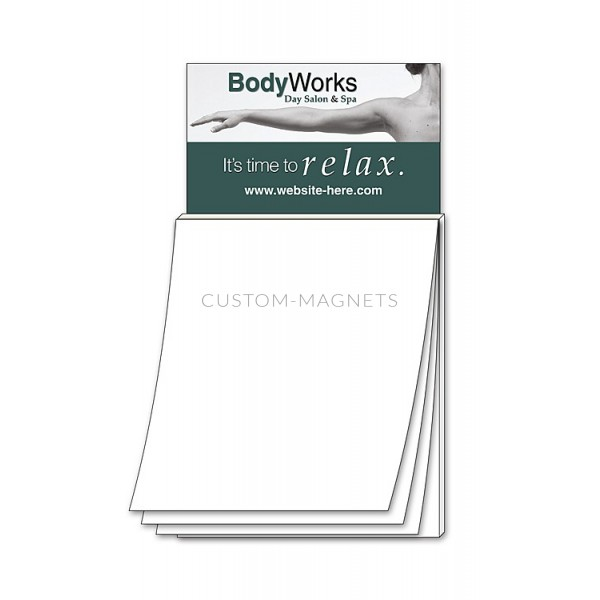 Custom Business Card Magnets with Notepad