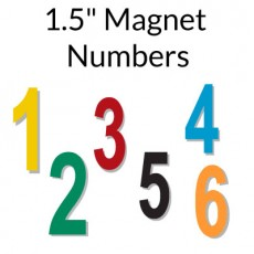 Flexible Vinyl Magnetic Number Sets 1.5""