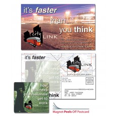 "Custom 8.5"" x 5.25"" Magna-Peel Postcard Mailer with 3.5"" x 4"" Magnet"