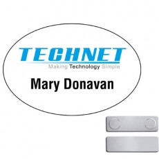 "3"" x 2 "" Oval Magnetic Name Tag"