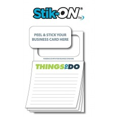 "Peel-n-Stick Business Card Magnetic Sticky Notes - ""Things To Do"""