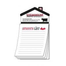 "Custom House Shaped Magnet with ""Grocery List"" Notepad"