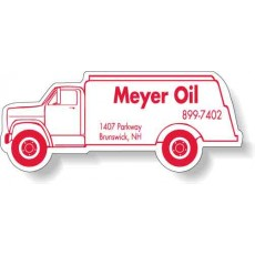 "Custom Oil Truck Shaped Magnets - 4.125"" x 1.625"""