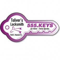 "Custom Key Shaped Magnets - 3.5"" x 1.75"""