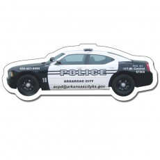 "Custom Police Car Shaped Magnets - 4.5"" x 1.65"""