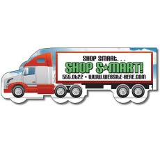 "Custom Semi Truck Shaped Magnets - 5"" x 1.7"""