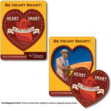 "3.5"" x 4.5"" Full Color Heart Picture Frame Magnet"