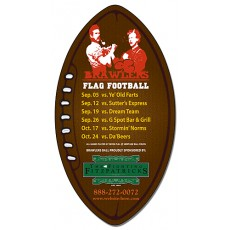 "Custom Football Shaped Magnets 5.5"" x 3"""