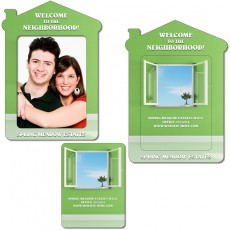 "4.3"" x 6"" House Shaped Picture Frame Magnet"