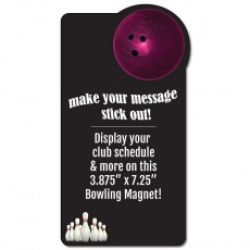 "Bowling Schedule Rectangle Magnet - 3.875"" x 7.25"""