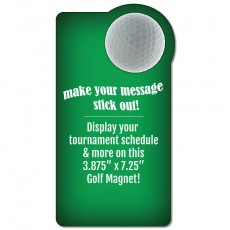 "Golf Schedule Rectangle Magnet - 3.875"" x 7.25"""