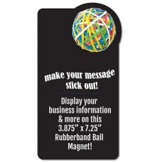 "Custom Rubber Band Ball Rectangle Magnet - 3.875"" x 7.25"""