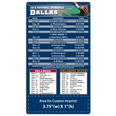 "Dallas Cowboys (OU) Pro Football Schedule Magnets 4"" x 7"""