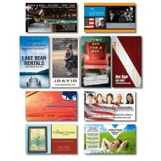 "Custom Business Card Magnets - 3.5"" x 2"" Square Corners"