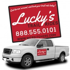 "Custom 18"" x 24"" Magnetic Car Signs"