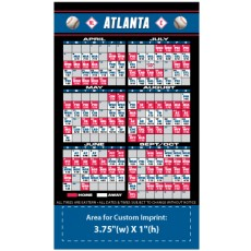 "Atlanta Braves Baseball Team Schedule Magnets 4"" x 7"""