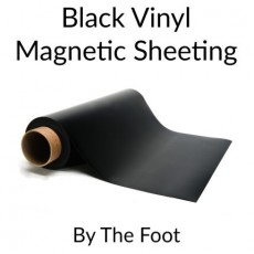 Black Vinyl Magnetic Sheeting - By the Foot
