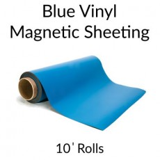 Blue Vinyl Magnetic Sheeting 10' Rolls