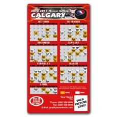 "Calgary Flames Pro Hockey Schedule Magnets 4"" x 7"""