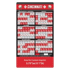 "Cincinnati Reds Baseball Team Schedule Magnets 4"" x 7"""