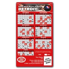 "Detroit Red Wings Hockey Schedule Magnets 4"" x 7"""