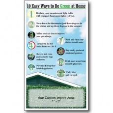"3.5"" x 6"" - ""10 Ways To Be Green At Home"" Eco-Friendly Magnets"