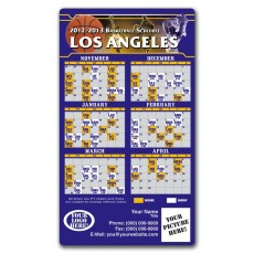 "Los Angeles Lakers Basketball Team Schedule Magnets 4"" x 7"""