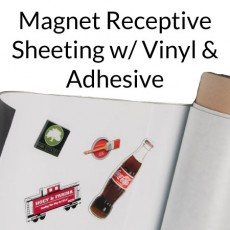 Magnet Receptive Sheeting with White Vinyl & Adhesive