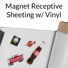 Magnet Receptive Sheeting with White Vinyl