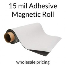 Magnet Roll with Indoor Adhesive - 15 mil - Wholesale Pricing