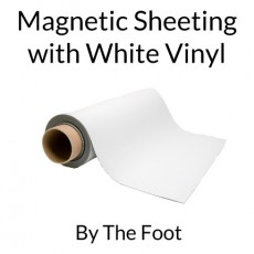 Magnetic Sheets with White Vinyl - By the Foot