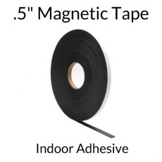 ".5"" Magnetic Tape Roll with Indoor Adhesive"