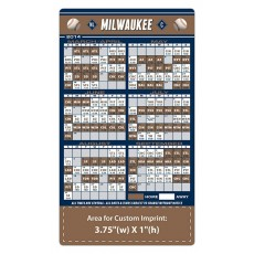 "Milwaukee Brewers Baseball Team Schedule Magnets 4"" x 7"""