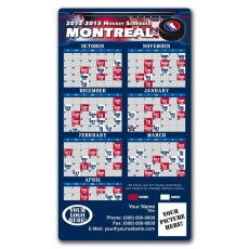 "Montreal Canadiens Pro Hockey Schedule Magnets 4"" x 7"""