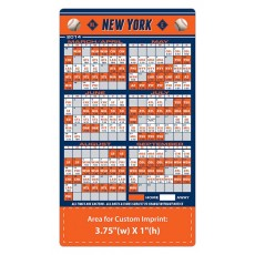 "New York Mets Baseball Team Schedule Magnets 4"" x 7"""