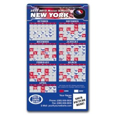 "New York Rangers Pro Hockey Schedule Magnets 4"" x 7"""