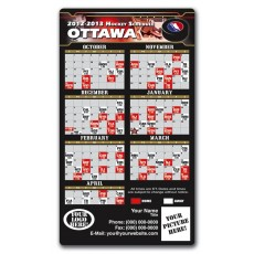 "Ottawa Senators Pro Hockey Schedule Magnets 4"" x 7"""