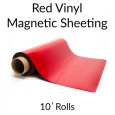 Red Vinyl Magnetic Sheeting 10' Rolls