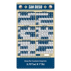 """San Diego Padres Baseball Team Schedule Magnets 4"""" x 7"""""""
