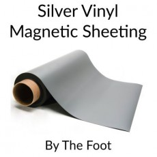 Silver Vinyl Magnetic Sheeting - By the Foot