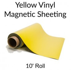Yellow Vinyl Magnetic Sheeting 10' Rolls