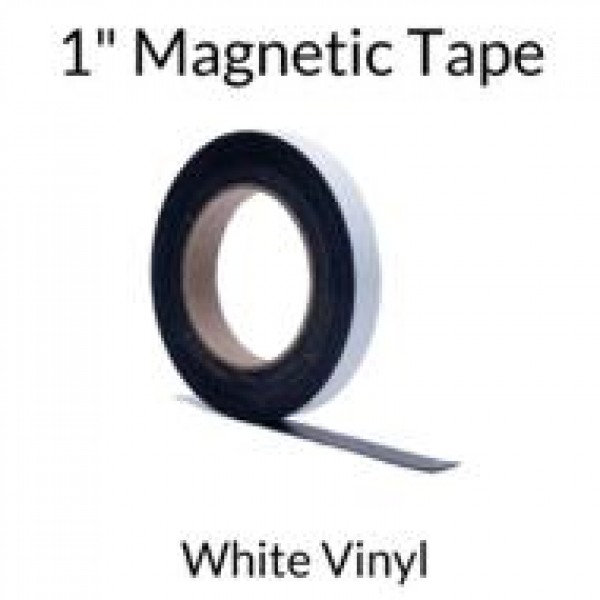 """1"""" Magnetic Tape with White Vinyl"""