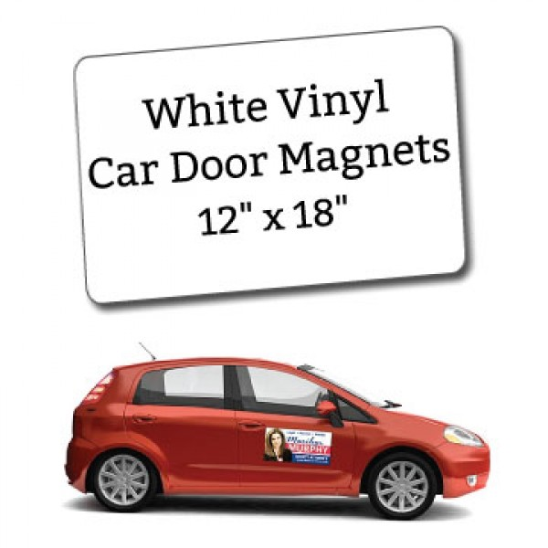 White Vinyl Car Door Magnets  X  CustomMagnets - Custom car magnets business