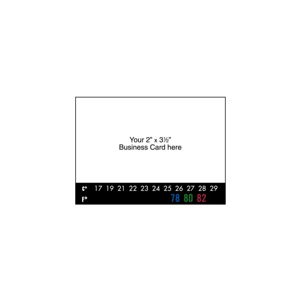 Peel-n-Stick Business Card Thermometer Magnet